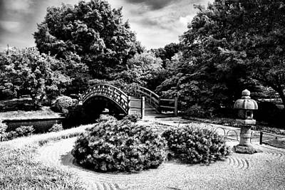 Photograph - Mo Bot Garden Arched Bridge Black And White Dsc06964 Dsc06964 by Greg Kluempers
