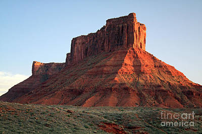 Art Print featuring the photograph Moab At Sundown by Edward R Wisell