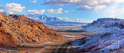 Photograph - Moab Fault Medium Panorama by Adam Jewell