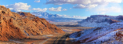 Photograph - Moab Fault Panorama by Adam Jewell