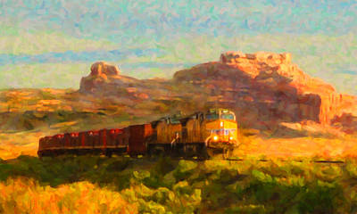 Digital Art - Moab Morning by Chuck Mountain