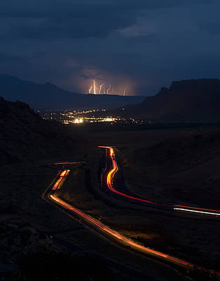 Lightning Photograph - Moab Storm by Adam Romanowicz