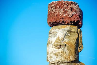 Topknot Photograph - Moai Closeup by Jess Kraft