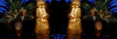 Photograph - Moai Gold by Gunter Nezhoda