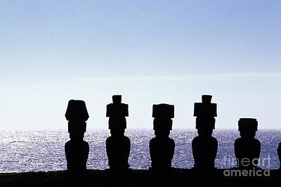 Megalith Photograph - Moai Oneaster Island Chile by Ryan Fox