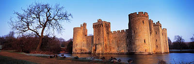 Bare Trees Photograph - Moat Around A Castle, Bodiam Castle by Panoramic Images