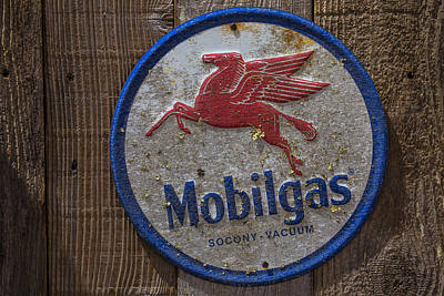 Pegasus Wall Art - Photograph - Mobil Gas Sign by Garry Gay
