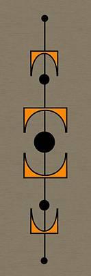 Mobile 1 In Orange Art Print by Donna Mibus