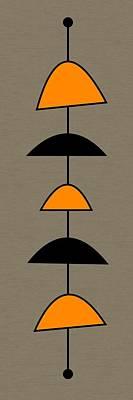 Mobile 2 In Orange Art Print by Donna Mibus