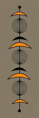 Mobile 3 In Orange Art Print by Donna Mibus
