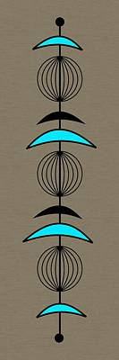 Mobile 3 In Turquoise Art Print by Donna Mibus