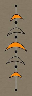 Mobile 4 In Orange Art Print by Donna Mibus