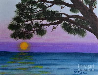 Painting - Mobile Bay Sunset by Melvin Turner