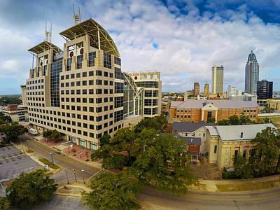 Photograph - Mobile City Building Closeup by Michael Thomas