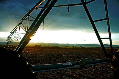 Crop Rotation Wall Art - Photograph - Mobile Irrigation by Mike Flynn