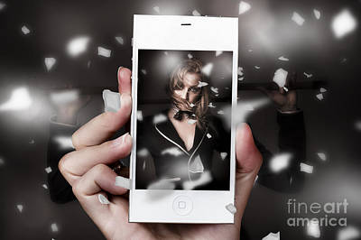 Photograph - Mobile Phone Capturing A Broadway Cabaret Show by Jorgo Photography - Wall Art Gallery