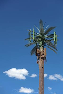 Hiding Photograph - Mobile Phone Communications Tower by Jim West