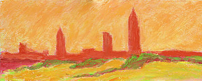 Mobile Skyline Early Summer Morning Art Print by Vernon Reinike