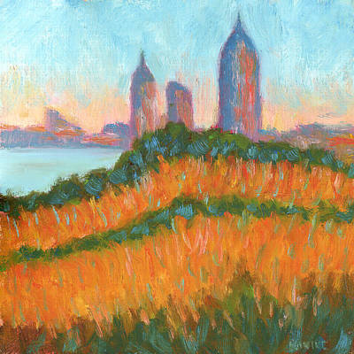 Mobile Skyline From Felixs Art Print by Vernon Reinike