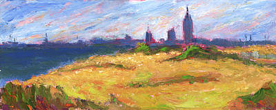 Mobile Skyline From Felixs Windy Day Art Print by Vernon Reinike