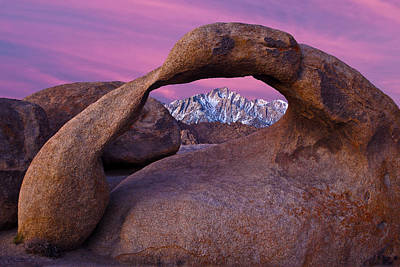 Lone Pine Photograph - Mobius Arch by Guy Schmickle