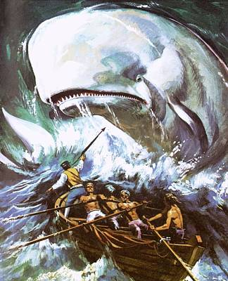 Moby Dick Art Print by English School