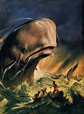 Beast Painting - Moby Dick by James Edwin McConnell