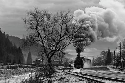 Steam Engines Wall Art - Photograph - Mocanita Hutulca by Sveduneac Dorin Lucian
