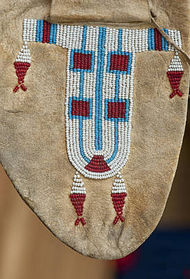 Photograph - Moccasin Beadwork IIi by Stephen Anderson