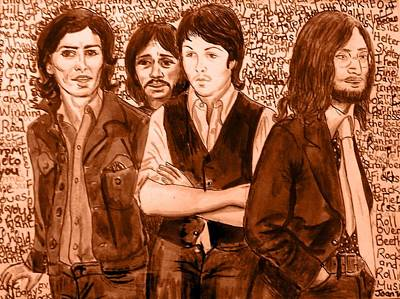 Painting - Mocha Beatles by Joan-Violet Stretch