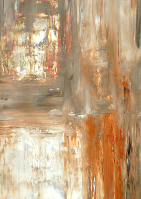 Abstract Royalty-Free and Rights-Managed Images - Mocha - Orange and Brown Abstract Art Painting by CarolLynn Tice