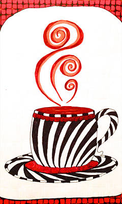 Drawing - Mocha Zebra Stripe Large by Anita Lewis