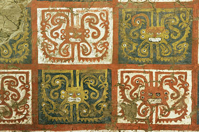 Mural Photograph - Moche Mural by Pasquale Sorrentino/science Photo Library