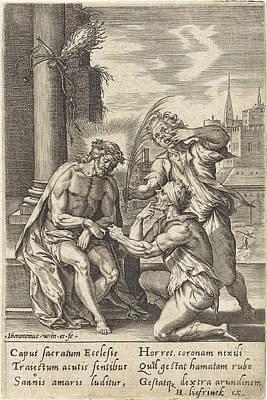Matthew 26 Drawing - Mocking Of Christ, Hieronymus Wierix, Hans Liefrinck by Hieronymus Wierix And Hans Liefrinck (i)