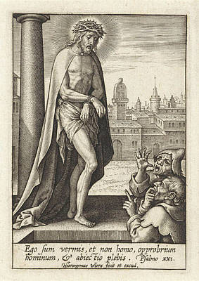 Matthew 26 Drawing - Mocking Of Christ, Hieronymus Wierix by Hieronymus Wierix