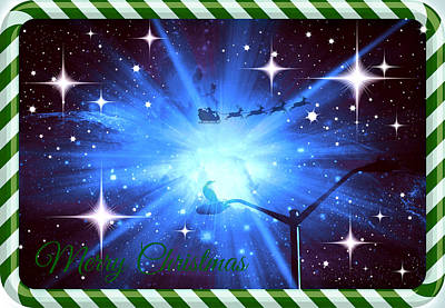 Shark Art - Mod Cards - Here Comes Santa Claus IV - Merry Christmas by Aurelio Zucco
