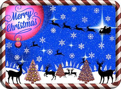 Mod Cards - Reindeer Games - Merry Christmas IIi Art Print