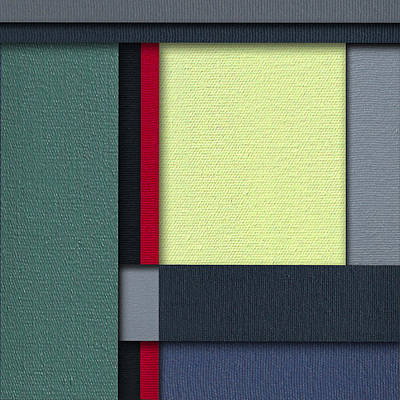 Painting - Mod Color Block Three 3d by Slade Roberts