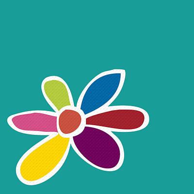 Colorful Art Digital Art - Mod Flower No.1 by Bonnie Bruno