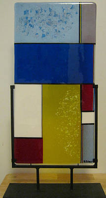 Table Top Stand Glass Art - Mod by Mary  Knapp