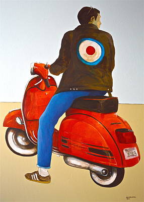 Vespa Mixed Media - MOD by Peter Wedel