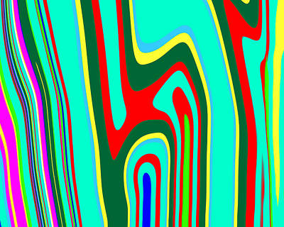 Vibrant Color Painting - Mod Stripes  C2014 by Paul Ashby