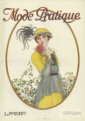 Nineteen-tens Drawing - Mode Pratique 1914 1910s France Womens by The Advertising Archives