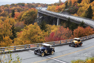 Photograph - Model A Cars On The Parkway by Jill Lang