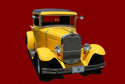 Photograph - Model A Ford Pick Up In Yellow by John Orsbun
