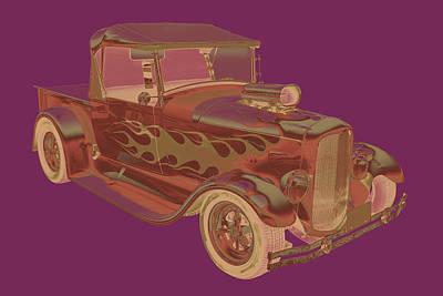 Customized Digital Art - Model A Ford Pickup Hot Rod Pop Image by Keith Webber Jr