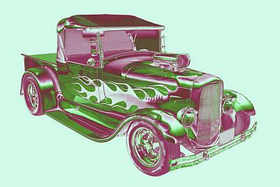 Customized Digital Art - Model A Ford Pickup Hotrod. by Keith Webber Jr