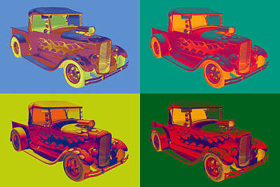 Model A Ford Pickup Hotrod Pop Art. Art Print by Keith Webber Jr
