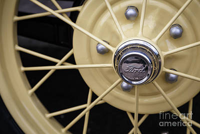 Wire Wheels Photograph - Model A Ford Wire Wheel by Dennis Hedberg