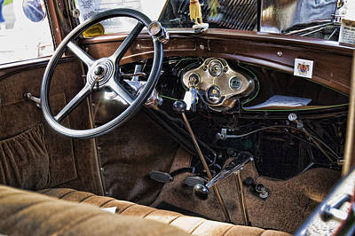 Photograph - Model A Roadster Interior by Robert Culver